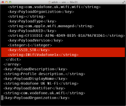Beispiel für Carrier Settings (Screenshot: SkyCure)
