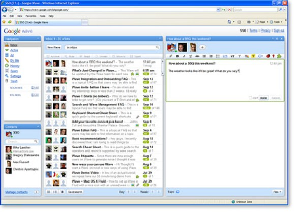 Legacy-Technologien: Chrome Frame konnte Google Wave im Internet Explorer ausführen (Bild: Google)