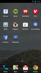 Facebook Home mit Dock
