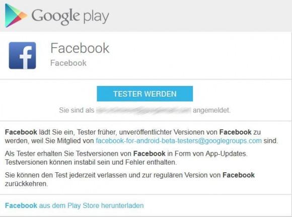Facebook sucht Tester für neue Android-App