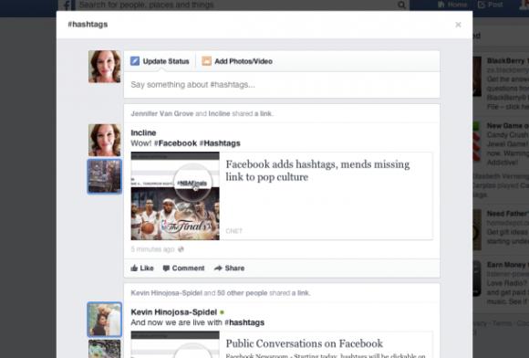 Der Klick auf ein Hashtag öffnet einen eigenen Feed zum Thema (Screenshot: Jennifer Van Grove / CNET)