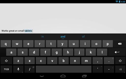 Googles Android-Tastatur ist jetzt als eigenständige App verfügbar (Bild: Google).