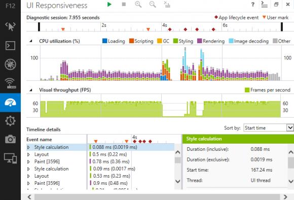 Über die neue Oberfläche im Windows-8-Design haben Entwickler Zugriff auf diverse Werkzeuge (Bild: Microsoft).