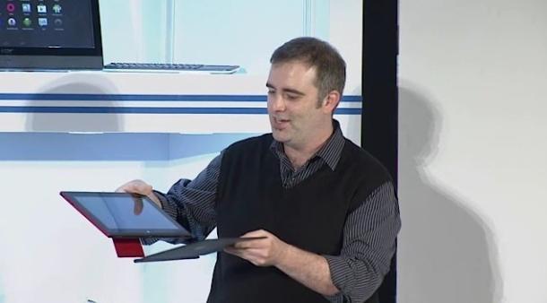Von BYD gefertigtes Referenztablet mit Intel Bay Trail, Android und Tastatur (Bild: News.com)