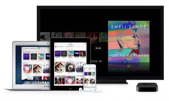iTunes Radio lässt sich auf Macs, Apple TV und Apples mobilen Geräten nutzen (Bild: Apple).