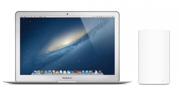 Das neue MacBook Air und die neue Basisstation unterstützen als erste Apple-Geräte WLAN nach 802.11ac (Bild: Apple).