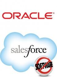 Logos von Oracle und Salesforce.com