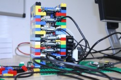 Cloud-Rack aus Lego und Raspberry-Pi-Systemen in Glasgow (Bild: TechWeekEurope)