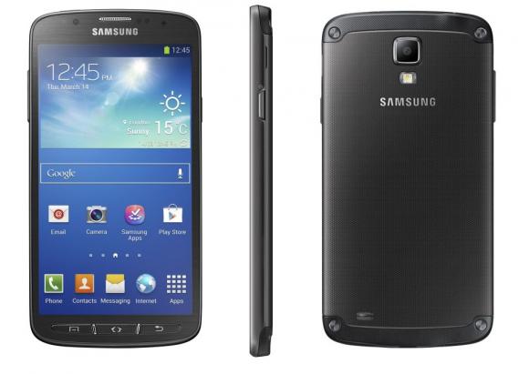 Das Galaxy S4 Active ist nach IP67-Zertifizierung vor Staub und Wasser geschützt (Bild: Samsung).