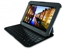 Per Bluetooth-Tastatur lassen sich die neuen Excite-Tablets wie ein Notebook nutzen (Bild: Toshiba).