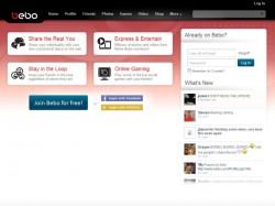Bebo-Website (Screenshot: ZDNet.de)