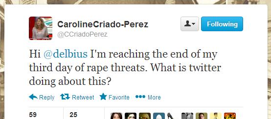 Tweet der Aktivistin Caroline Criado-Perez