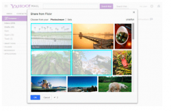 Flickr-Integration in Yahoo Mail