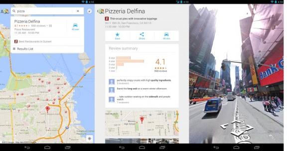 Die überarbeitete Google-Maps-App für Android (Bild: Google)