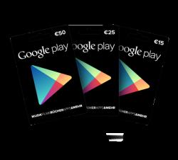 Google bietet jetzt Geschenkkarten im Werten von 15, 25 und 50 Euro an (Bild: Google).