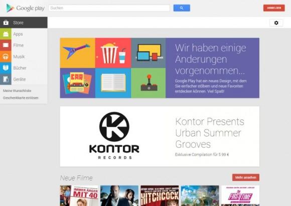 Die neue Weboberfläche von Google Play (Screenshot: ZDNet.de)