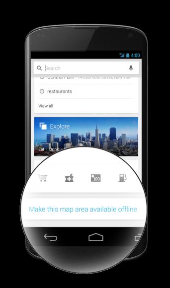Die jüngste Ausgabe von Google Maps für Android vereinfacht die Nutzung von Offline-Karten wieder (Bild: Google).
