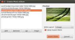 """Die neue Impress-Funktion """"Fotoalbum"""" erleichtert das Einfügen von Bilderserien in Präsentationen (Bild: TDF)."""