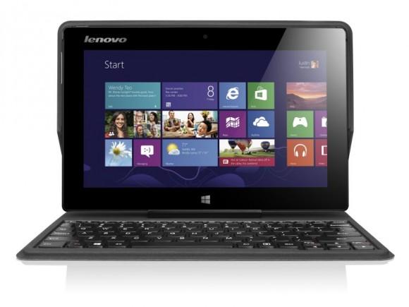 Das IdeaPad Miix 10 lässt sich dank Anstecktastatur sowohl als Tablet als auch als Notebook nutzen (Bild: Lenovo).
