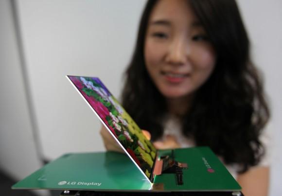 Das laut LG weltdünnste LCD für Smartphones ist 2,2 Millimeter dick (Bild: LG).