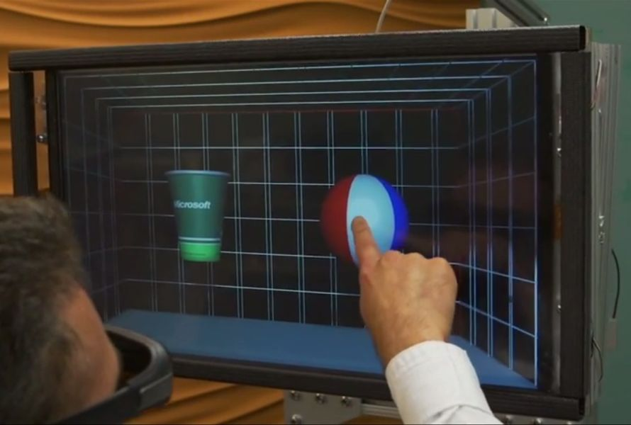 Microsoft entwickelt 3D-Touchscreen mit taktilem Feedback