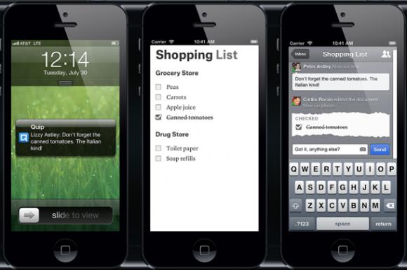 Einkaufsliste (Bild: Quip)