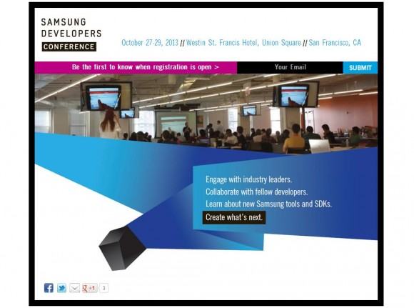 Samsungs erste Entwicklerkonferenz beginnt am 27. Oktober (Screenshot: ZDNet.de).