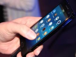 Tizen OS auf einem Smartphone-Prototyp von Samsung (Bild: Luke Westaway/CNET)