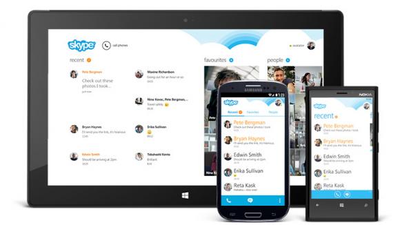 Skype 4.0 für Android kommt mit neuer Oberfläche (Bild: Microsoft).