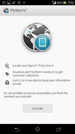 My Xperia auf dem Smartphone (Bild: Sony)