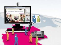 Telefon- und Webkonferenzen gibt es bei der Telekom jetzt zu monatlichen Festpreisen (Bild: Deutsche Telekom).