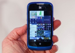 The ZTE Open is available from tomorrow at Telefónica in Spain (Image: Stephen Shankland / CNET).