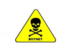 Botnetz-Warnschild