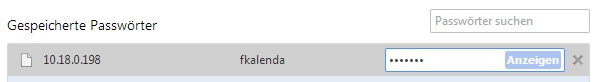 Google Chrome zeigt alle gespeicherten Passwörter auf einen Klick hin als Klartext an (Screenshot: ZDNet)