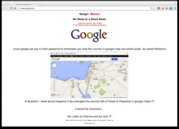 Hackerangriff auf Google.ps