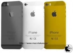 Angebliche Farbvarianten des iPhone 5S: Schwarz, Weiß, Gold (Bild: Macotakara)