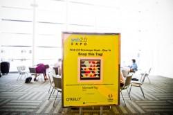 Microsoft-Tag auf einem Plakat der Web 2.0 Expo (Bild: News.com)
