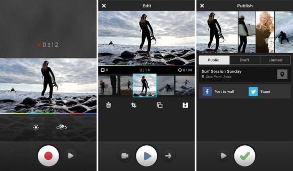 Mit MixBit lassen sich Videos aufnehmen, schneiden und veröffentlichen (Bild: MixBit).