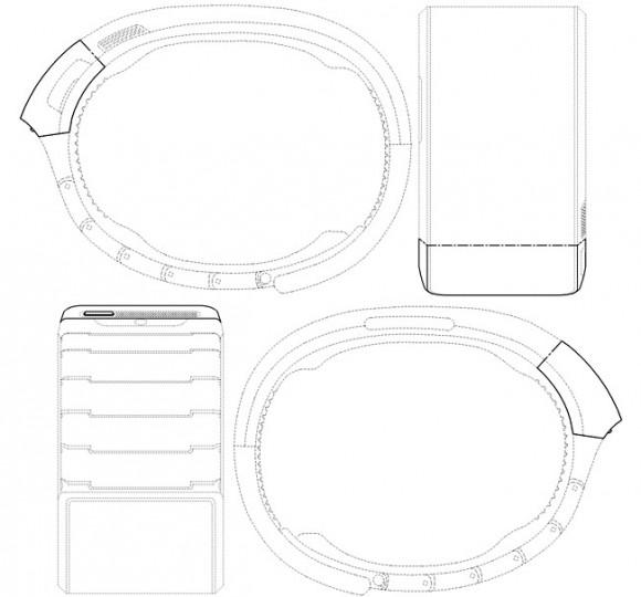 """Samsungs Smartwatch wird voraussichtlich unter der Marke Galaxy Gear erscheinen (Bild <a href=""""http://www.sammobile.com/2013/08/03/patents-filed-show-concept-samsung-smartwatch-aka-gear/"""" target=""""_blank"""">via Sammobile</a>)."""