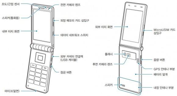 Das Galaxy Folder besitzt offenbar einen doppelseitigen Touchscreen (Bild: Samsung).