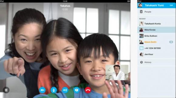Skype 4.10 für iPhone und iPad ermöglicht Videoanrufe in 720p (Bild: Microsoft).