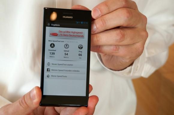 Bei einem internen Test hat Vodafone eine LTE-Geschwindigkeit von 139 MBit/s gemessen (Bild: Vodafone).