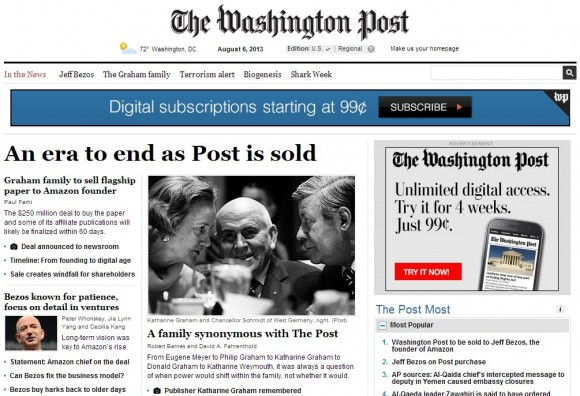 Jeff Bezos kauft Washington Post