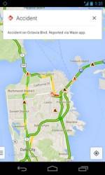 Waze-meldungen in Google Maps für Android (Screenshot: Google)