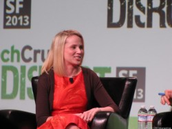 Yahoo-CEO Marissa Mayer auf der Konferenz TechCrunch Disrupt 2013 in San Francisco (Bild: Daniel Terdiman / CNET)