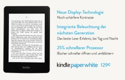 Amazon Kindle Paperwhite der 2. Generation (Bild: Amazon)