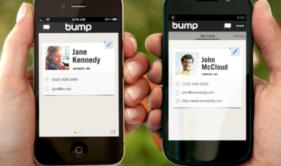 Nutzer von iOS- und Android-Smartphones können mit Bump drahtlos Dateien, Fotos und Kontakte austauschen (Screenshot: Jennifer Van Grove / News.com).