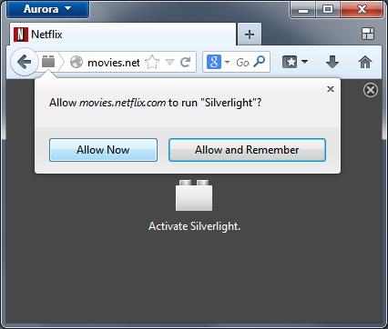 Firefox fragt künftig nach, ob der Nutzer ein Plug-in wie Silverlight ausführen möchte. Dabei lässt sich auch eine dauerhafte Genehmigung erteilen (Bild: Mozilla).