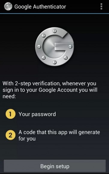Google Authenticator (im Bild die Android-Version)