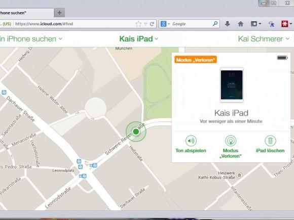 iOS 7: Aktivierungssperre aktiv (Bild: ZDNet.de)